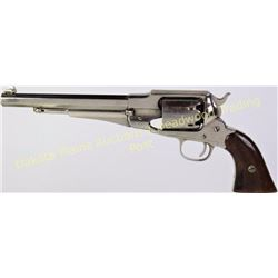 Remington New Model Army .44 cal. SN 47425 single action percussion revolver, top of barrel roll sta