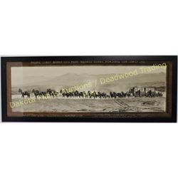 "Nicely reprinted Borax 20 Mule Team litho framed, 16"" X 42"".  Est. 150-250"