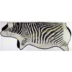 """Large Zebra hair on with felt backing 89"""" long, shows some areas of loss.  Est. 25-100"""