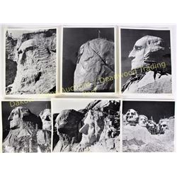 """Collection of 13) - 8"""" X 10"""" photos all of Mt. Rushmore showing progression from start to finish. On"""