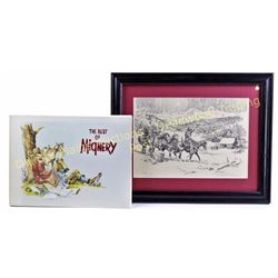 """Collection of 2 includes limited 133/250 lithograph signed by Nebraska artist Herb Mignery, image 8"""""""