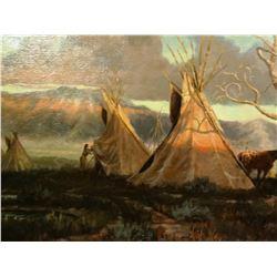 Barber, Bill, 12 x 14 Morning Light Tepees   (oil)