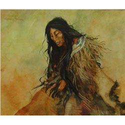 Bear, Charles   9 x 11   Indian Woman (gouache)