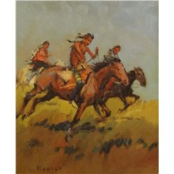 Bodily, Sheryl, oil, 8 x10    Indian Riders (oil)