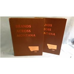 Hunnes, Fred B, BRANDS ACROSS MONTANA, cent. ed, 1st, 2 Vol, VG/ Miles City, MT, 1984, $200.00