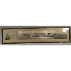 "1915 Dodson, MT photo, 6"" x 36"", framed"