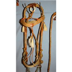 Deer Lodge prison-made horsehair headstalls, high condition