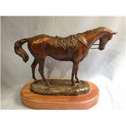 Dwyer, Anna  3 x 9 x 7 Thoroughbred Horse, (bronze)