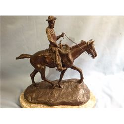 Russell, C. M., 11 x 11 x 6 Will Rogers on Horseback, (recast bronze)