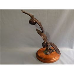 Sander, Tom   7 x 6 x 7 Wooducks and Pair (bronze)