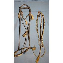 Early 20th Century braided horsehair bosal.