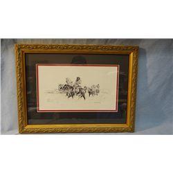"""Standing, William, original pen & ink, Winter Meat, , 8"""" x 10"""