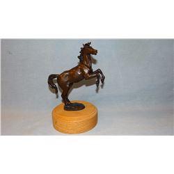 """Cheek, C. R., sculpture, Rearing Stallion, #30/45, 5"""" h x 5"""" w  (bronze)"""