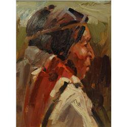 Reece., Bill,  8 x 10, Man From Taos (oil)