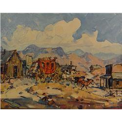 Reed, Marjorie, 14 x 18, Butterfield Stage (oil)