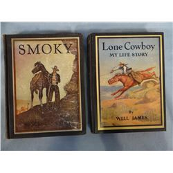 James, Will, Smoky, Classic Illus. Ed., 1st, and Lone Cowboy, Classic Illus. ed. (later)