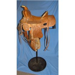 """Carroll 12"""" saddle, in skirt rigging, taps"""