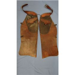 Early 2-tone youth batwing chaps,