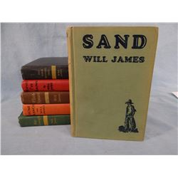 James, Will mini collection of 6 books, Three Mustangeers, Horses I've Known, Flint Spears, Home Ran