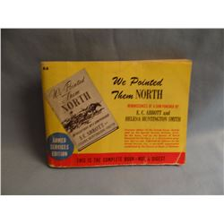 """WE POINTED THEM NORTH, wraps, 4x5"""" format, Unabridged armed forces ed"""