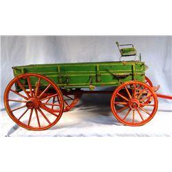 "Farm wagon replica, 43"" l x 15"" h, nice"