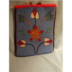 "Yakima Indian beaded trade cloth bag, 13"" x10 1/2"""