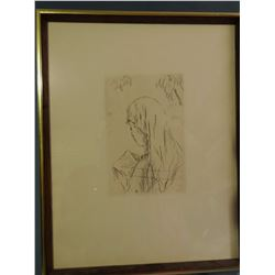 Bounard, Pierre, 5 x 7 French Impressionist etching and Dali, Salvadore 7 x 9 Angel (litho.) #123/10