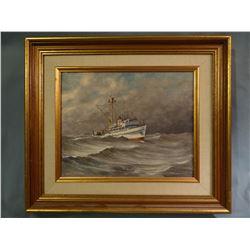 Dinius, Burt  8x10 Boat (oil)