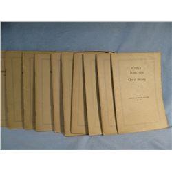 11 pamphlets by Flandrau, Grace, FRONTIER DAYS ALONG THE UPPER MISSOURI, G/wraps; KOO-KOO-SINT the S
