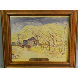 Mack, Leal, (1892-1962), 8 x 10, Old homestead, (watercolor)