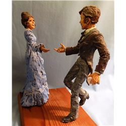 """Mimnaugh, Terry, (wax sculpture), 8"""" h., Square Dancers,  never cast, would need artist's permission"""