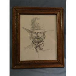 Morgan, R. F., 8 x 10, Cowboy, (pencil)