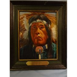 Morgan, R. F., 8 x 10,  Indian Portrait (oil)