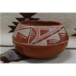 """Santa Clara pottery bowl, 7.5"""""""