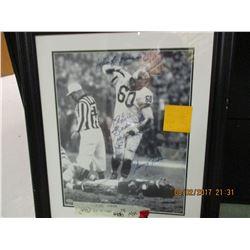Chuck Bednarik signed photo