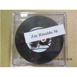 Zac Rinaldo 36 autographed hockey puck
