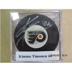 Kikko Timonen 44 autographed hockey puck