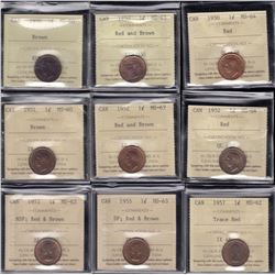 Lot of 27 ICCS Graded One Cents