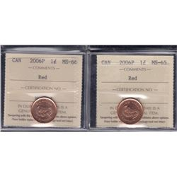 2006P One Cent - Lot of 2