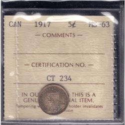 1917 Five Cents