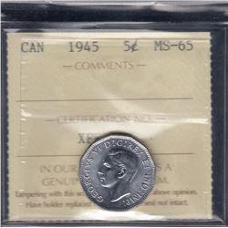 1945 Five Cents