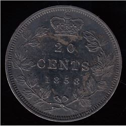 1858 Twenty Cents Specimen