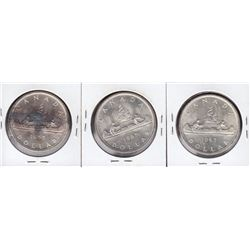 Lot of 3 Silver Dollars, 1965