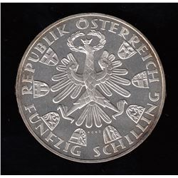 Austria Proof 50 Shilling, 1959