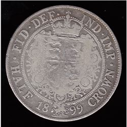 Queen Victoria Half Crown (2/6d), 1899