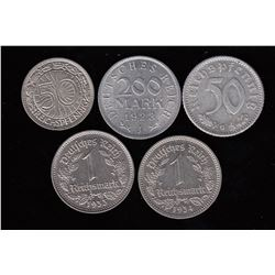 Germany, lot of 5 coins