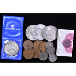Mexico - Lot of coins and notes