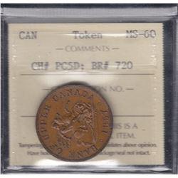 Upper Canada 1857 Halfpenny Token