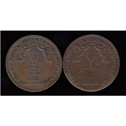 Sir Isaac Brock Halfpenny Token Lot of 2