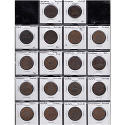 GREAT BRITAIN above average grade lot of 18th century Conder/Provincial Tokens primarily Halfpennies